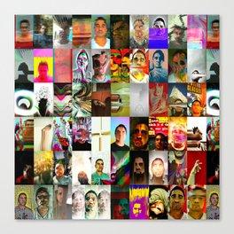 Sombra Glitch Canvas Print