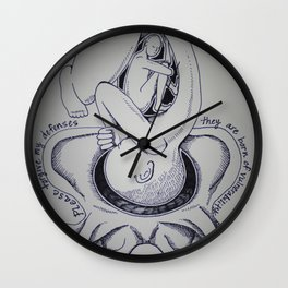 Please Forgive My Defenses Wall Clock