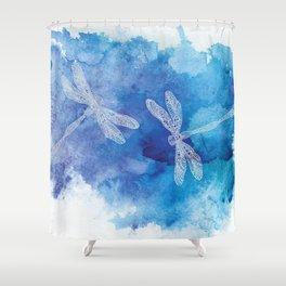 Dragon Flies Shower Curtain