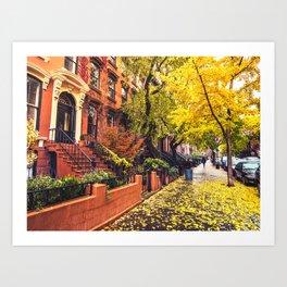Autumn in Brooklyn Art Print
