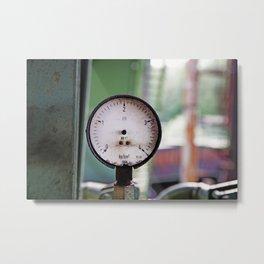 Broken pressure gauge Metal Print