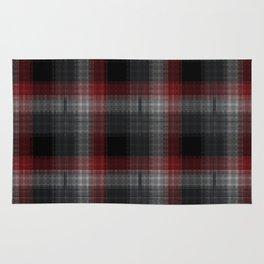 Black, Red, Lumberjack Plaid Rug