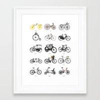 bicycles Framed Art Prints featuring Bicycles by MuDesignbyMugeBaris