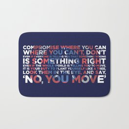 Civil War Quote Bath Mat