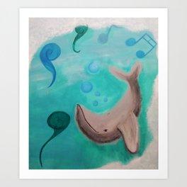 Whale music Art Print