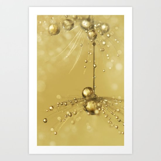 Golden Sprinkles Art Print