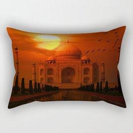 Taj Mahal Sunset Rectangular Pillow