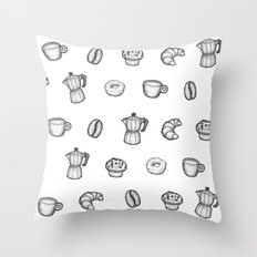 for the love of coffee Throw Pillow