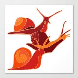A Snail's Pace Canvas Print