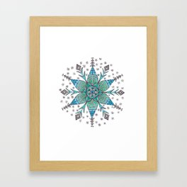 Snowflake Mandala Framed Art Print