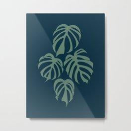 Monstera Deliciosa var. Sierrana Rare Tropical Houseplant Metal Print