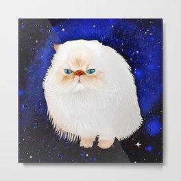 Bowie Space Cat Metal Print
