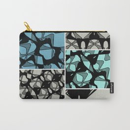 DISTORTION AND PERCEPTION PATTERN  - LIGHT BLUE & TURQUOISE Carry-All Pouch