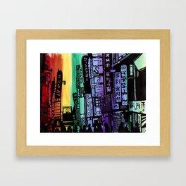 Colors of Tokyo Framed Art Print
