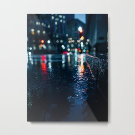 Cold City Lights Metal Print