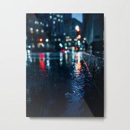 Cold City Lights Metal Print