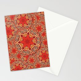 K143 - Red Curls Abstract Stationery Cards