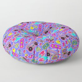 Back to the nineties! Blue Floor Pillow