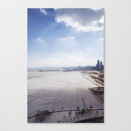 Frozen Lake Michigan!  Canvas Print