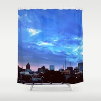 atlanta Shower Curtains featuring Atlanta.  by calvin./CHANCE
