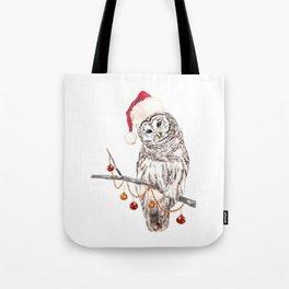 Christmas Owl GREETING Tote Bag