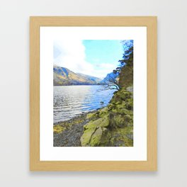 Little Tree at Buttermere, Lake District, England Watercolour Painting Framed Art Print