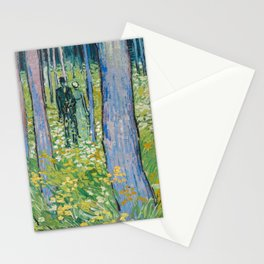 Vincent van Gogh - Undergrowth with Two Figures, 1890 Stationery Cards