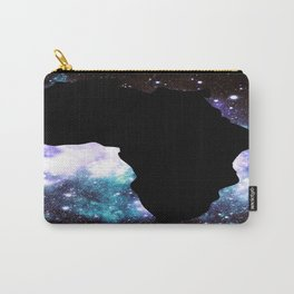 African Galaxy : Purple Teal Green Carry-All Pouch