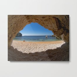 Out From Cave Metal Print