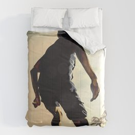 Beach Soccer Illustration Comforters