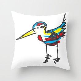 Bird sketch Throw Pillow