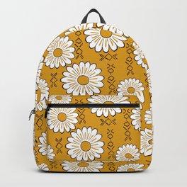 Harry Sunflower Shirt Flower Print Hippie Pop Art Floral Pattern Backpack