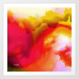 Abstract Bliss 1F by kathy Morton Stanion Art Print