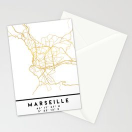 MARSEILLE FRANCE CITY STREET MAP ART Stationery Cards