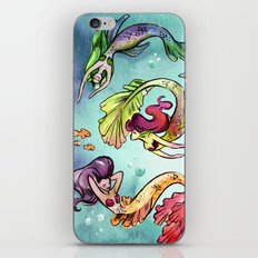 Watercolor Mermaids iPhone & iPod Skin