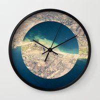 america Wall Clocks featuring AMERICA by DILLON MCINTOSH