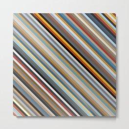 Nordic Stripes Pattern Horizontal Metal Print