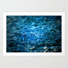 Water Color - Blue Art Print