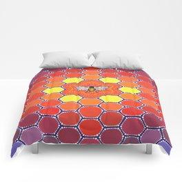 Bee Sacred Geometry Comforters