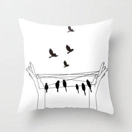 Cat's cradle Throw Pillow
