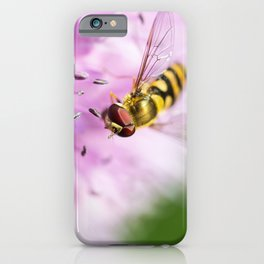 Hoverfly on Allium - Onion Flower 6 iPhone Case