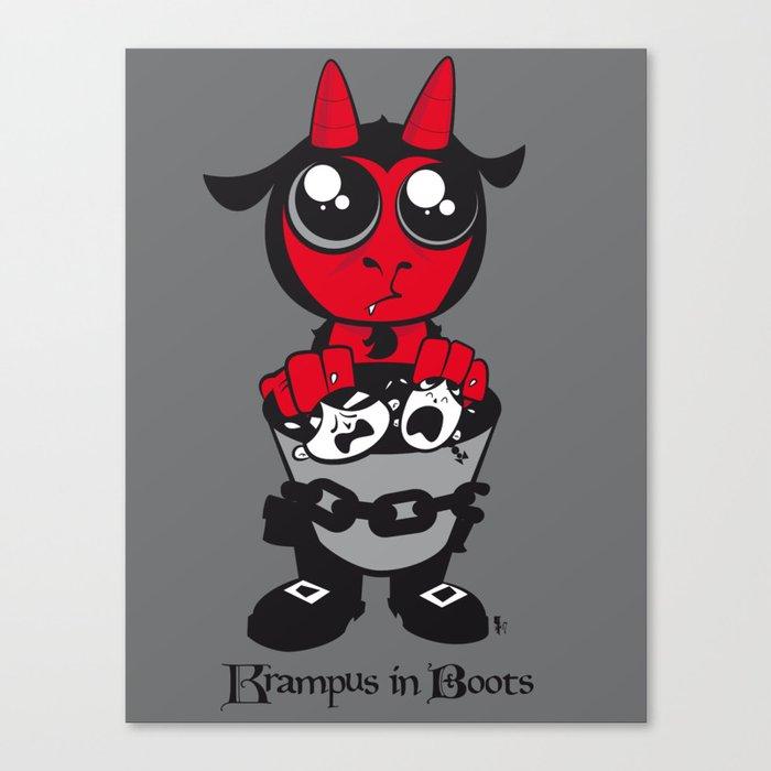 Krampus in Boots Canvas Print