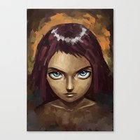 raven Canvas Prints featuring Raven by Freeminds