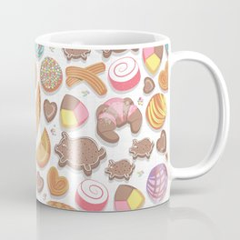 Mexican Sweet Bakery Frenzy // white background // pastel colors pan dulce Coffee Mug