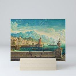 Capriccio of a Mediterranean Seaport Landscape No. 1 by Rex Whistler Mini Art Print