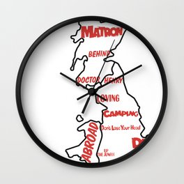 Carry On (1960's - 1970's) Wall Clock