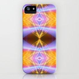 Blue Wave Fire iPhone Case