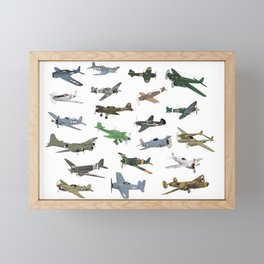 Various WW2 Planes Framed Mini Art Print