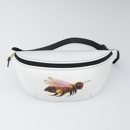 Honey Bee with Pollen Baskets Illustration Fanny Pack