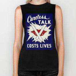 Careless talk costs lives Biker Tank